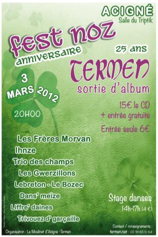 Fest noz anniversaire Termen, 3 mars 2012